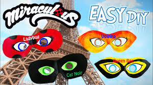 diy miraculous ladybug dress up masks for ladybug cat noir season