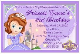 sofia the birthday princess sofia the birthday invitations design ebay