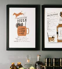 cocktail recipes poster moscow mule recipe letterpress art print art prints u0026 posters
