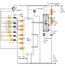 sequential bar graph turn light indicator circuit for car wiring