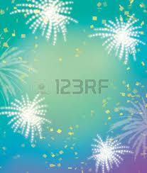 firework celebration green background celebrating blue and green