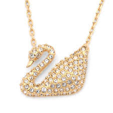 swarovski gold plated necklace images Swarovski crystal gold plated swan necklace 5063921 ebay jpg
