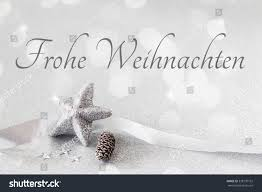 arrangement decorations silver german wishes stock photo