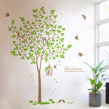 aliexpress com buy creative home decor plane wall stickers aliexpress com buy creative home decor plane wall stickers quotes big tree birds pattern for living room decoration decal finished size 167x180 cm from