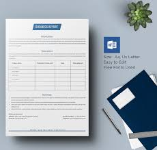 word document report templates 25 business report template free sle exle format