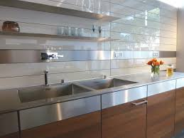 kitchen backsplash panels uk kitchen rear wall has a backlit glass niche with integrated socket