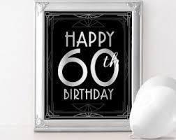 60th birthday party decorations birthday party decorations happy 60th birthday sign