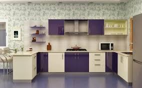 Purple Kitchen Backsplash Kitchen Style U Shape Laminate High Gloss Opulent Purple Frosty