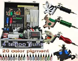 tattoo kit without machine ouran professional 4 machine power supply needle tattoo kits