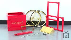 assemble a carnival king popcorn cart youtube