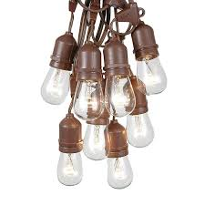 globe string lights brown wire garden patio outdoor string lights novelty light inc