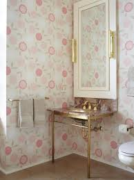 pink and silver bathroom bathroom gray tiled shelving tub shower