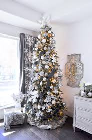 christmas tree ideas white and gold living room beautiful