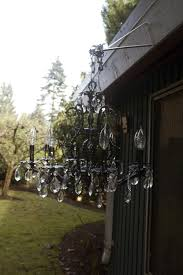 Homemade Outdoor Chandelier by Glamorous Diy Outdoor Chandelier Outdoor Chandelier Chandeliers
