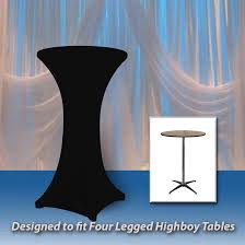 spandex table covers 30 x 42 spandex highboy cover 4 legs spandex contour fit