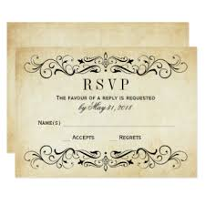 wedding invitations rsvp rsvp cards templates zazzle