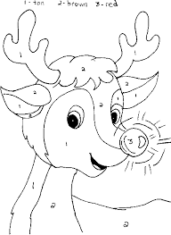 coloring pages christmas math color number calendar