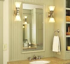 Bathroom Vanity Side Lights Bathroom Mirror Side Lights 2 Lights Nickel Wall Sconces Beside