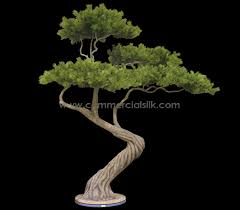 artificial bonsai tree creating real japanese ambience silk