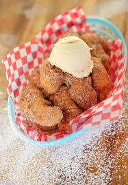 fried peaches and cream