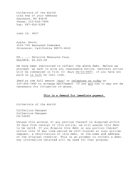 downloads debtor letter