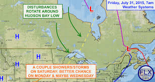 Suny Oswego Map Low Over Hudson Bay Sends Disturbances Spinning Towards Finger