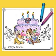 nick jr birthday party coloring printables nickelodeon parents