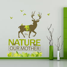 popular baby deer room decoration wall buy cheap baby deer room english letters deer green birds grass wall sticker decal home paper removable art picture murals kids