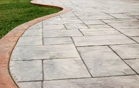 Stamped Concrete Patio Design Ideas by Floor Cool Stamp Concrete Walkway Design Ideas With Green Grass