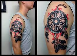 Dreamcatcher Sleeve - abstract dreamcatcher on half sleeve by marco