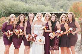 marsala u0026 gold backyard fall wedding detail