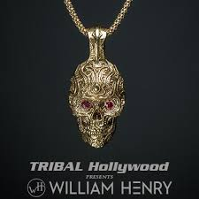 mens chains necklace images Mens skull necklaces tribal hollywood jpg