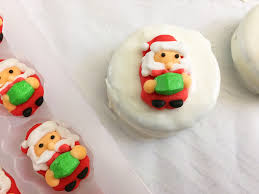 easy santa oreo christmas cookies impress your guests fit