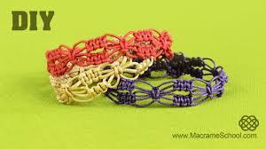 macrame flower bracelet images Diy easy square knot flower bracelets macrame school jpg