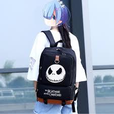 wishot the nightmare before casual backpack teenagers