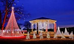 christmas lights set to music batesville s annual christmas lights drive through display at