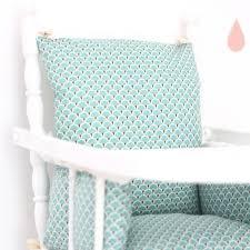 coussin chaise haute bebe coussin chaise haute ethnique turquoise en coton enduit pour bébé