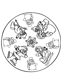 winter activities coloring pages having fun in winter coloring