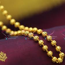 gold plated bead necklace images B2620 fancy light weight beaded handmade delicate 18 inches beads JPG