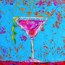 martini cherry cosmopolitan martini cherry flavored modern art painting by