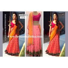buy bollywood lehengas kareena pink and orange combination