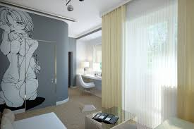 here s a little something that we don t see too often two bedroom designs curtain manga wall mural all bedroom designs two