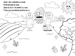 jack and jill nursery rhyme coloring page cecilymae