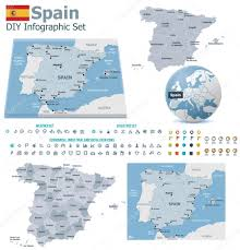 Spain Maps by Spain Maps With Markers U2014 Stock Vector Tele52 31334607