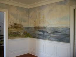 Mary Webster Public Murals Private Murals Decorative Painting - Dining room mural