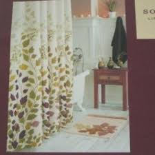 Brown Floral Shower Curtain Leaves Fabric Shower Curtain Foter