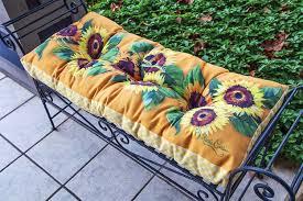 Garden Chair Seat Cushions Amazon Com Bench Cushions Sunflower Garden Bench Seat Cushion