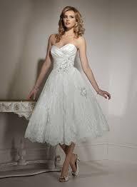 white color tea length wedding dresses 2017