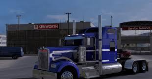 w900 kenworth truck kenworth w900 blue white truck skin mod ats mod american truck