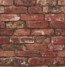 fine decor distinctive rustic brick wallpaper fd31285 red brown